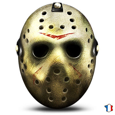 * Masque Véritable Jason Voorhees Original Vendredi 13 Hockey Freddy Halloween *