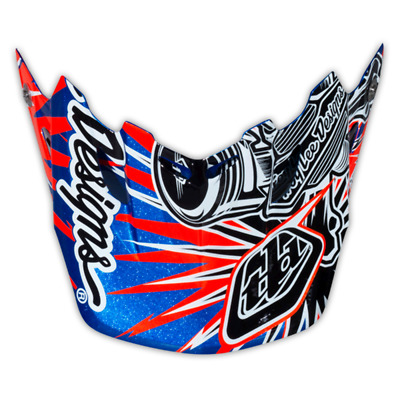 Troy Lee Designs Tld Se3 Helmet Visor Piston Blue Mx Motocross Dirt Bike Moto