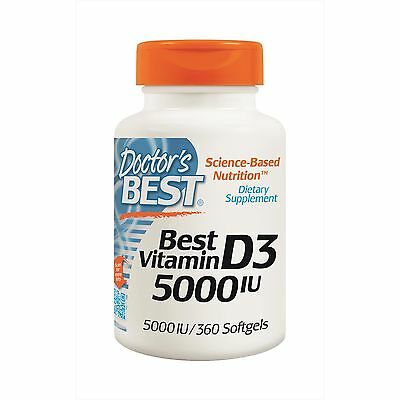 Doctor's Best, Best Vitamin D3, 5000 IU, 360 Softgels - Long Expiry - Free Post