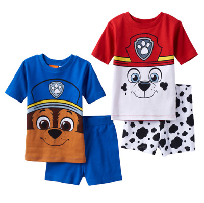 NEW PAW PATROL MARSHALL or CHASE TWO PIECE PAJAMAS SIZE 6 8 NEW WITH TAGS