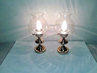Pair of Brass Lamps - bedside table or living room - 2 / set