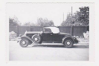 RARE GORGEOUS 1930s CONVERTIBLE? 1950s REAL SNAPSHOT PHOTO- PLEASE HELP ID CAR