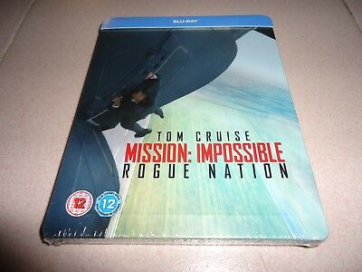 Mission Impossible Rogue Nation Steelbook Limited Ed Blu-ray New Region Free!