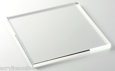 Acrylic Clear Sheet A5 size 148x210x2mm CAST Clear Perspex with films