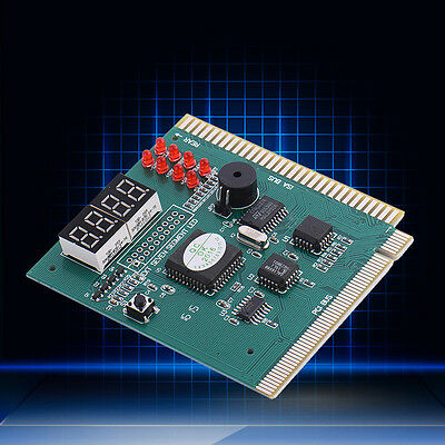 Computer PC Motherboard Diagnostic Card 4Digit PCI/ISA POST Code Analyzer Tester