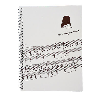 Music Sheet stave Staff Notebook A4 100 Pages Manuscript Paper Composition Book
