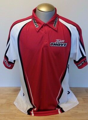 Hoyt Team Archery Get Serious Apple Logo Red Shooter Jersey Polo Shirt 2Xl Xxl