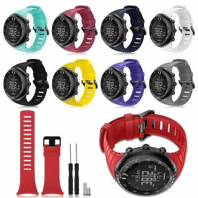 NEW Sports Soft Silicone Bracelet Strap Wrist Band Replacement For SUUNTO CORE