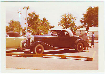 RARE GORGEOUS BLUE 1930s CONVERTIBLE? 50s REAL SNAPSHOT PHOTO PLEASE HELP ID