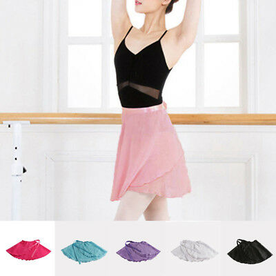 Adult Women Girl Chiffon Ballet Leotard Tutu Wrap Scarf Skirt Dance Dress S/M