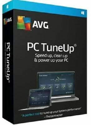 AVG PC TuneUp 2017 - 3 PC 1 Year Worldwide LICENCE + DOWNLOAD DELIVERY 1 MINUTES