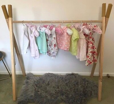 Childrens Gold Tee Pee Clothing Rack 1200X1200X700 Storage Clothing Wardrobe