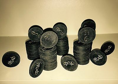 100 Paulson Hat & Cane Clubroom Poker Chips