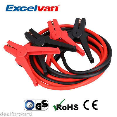 Excelvan 350AMP Heavy Duty Car Jump Starter Leads Battery Booster Cable Clamps