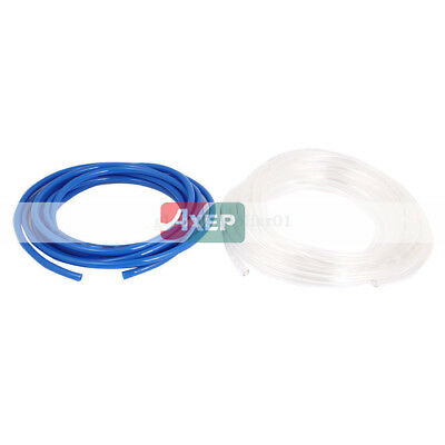 2Pcs Flexible Air Tubing Gas Line PU Pneumatic Tube Pipe Hose Blue Clear