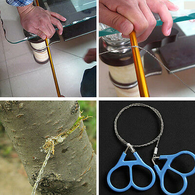 NEU Drahtsäge Camping Stainless Steel Emergency Pocket Chain Saw Survival Gear.