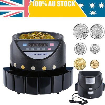 Australian Coin Sorter Led Digital Automatic Electronic Counter Machine