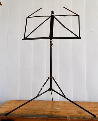 Antiguo Atril de Musica en metal - Plegable y extensible - Antique Music Stand
