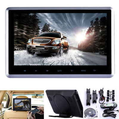 "HD 10.1"" LCD Digital Screen Car Headrest Monitor USB MP4 DVD Player IR/FM Game"