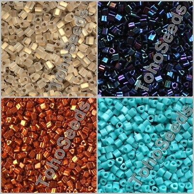 10g Triangle Toho Seeds Beads size 11/0 Japanese Rocailles Glass 20 COLORS