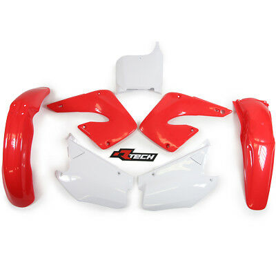 Racetech NEW Mx Honda CR 125 250 2000 2001 Motocross White Red OEM Plastics Kit