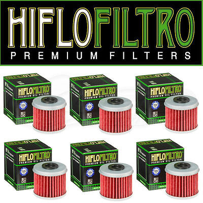 6 x Hiflo Oil Filters HF116 for Honda CRF450X 2005 2006 2007 2008 2009 2010 2011