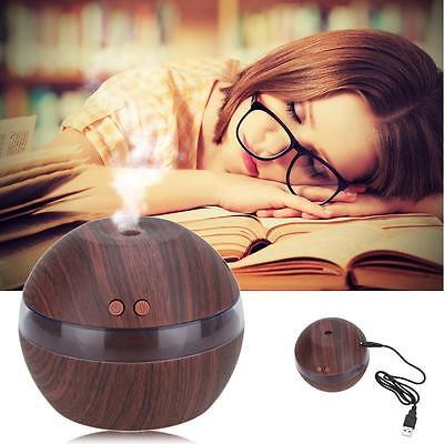 Air Aroma Essential Oil Diffuser LED Ultrasonic Aromatherapy Humidifier Black AE