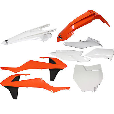UFO NEW Mx KTM 125-450 SX SXF 2016 2017 Motorbike Orange White OEM Plastics Kit