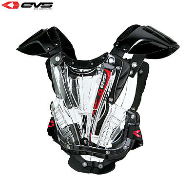 Evs Vex Adult Large Body Armour Chest Protector Clear Mx Motocross Roost Guard