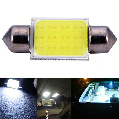 2Pcs 36mm 12V Weisse COB-Chip Soffitte  Auto Innenraum Beleuchtung LED Lampe-