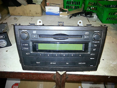 Toyota Avensis 09-10-11 Stereo Cd Player