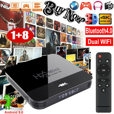 MX10 MINI 4K Android 9.0 Pie Quad Core Smart TV BOX WIFI HDMI 2.0 Media Player