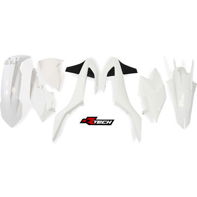 Racetech NEW Mx KTM EXC EXC-F 2017 RTECH White Dirt Bike Motocross Plastics Kit