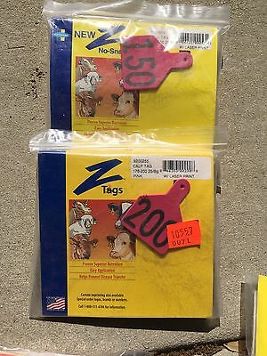 Z Tags Calf No Snag Assorted Numbers In Blue Or Red 25ct Put In No. Msg Color