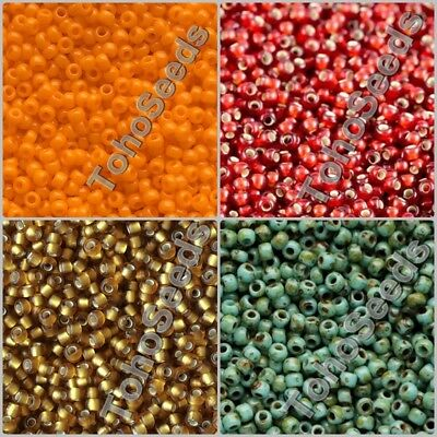 10g Toho Glass Seed Beads size 11/0 Japanese Round Rocaille Beads 100 COLOR