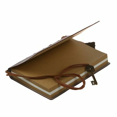Classic Vintage Leather Bound Blank Pages Journal Diary Notebook L2Z8