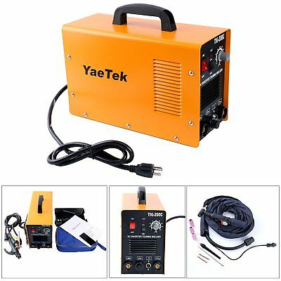 TIG 200C AMP DC Inverter MMA Welding Machine Stainless Steel Welder Dual Voltage