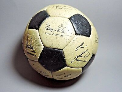 Vintage 1980s Football Soccer Ball Printed Autographed Germany National Team