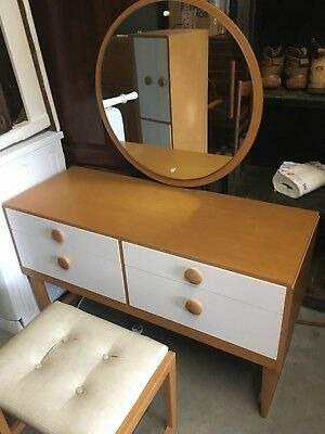 vintage retro mid century style dressing table and stool