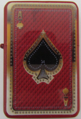 Red Ace of Spades Star Lighter In Gift Tin