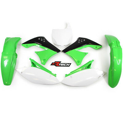 Racetech NEW Mx Kawasaki KX450F 2009-2011 Motocross Green White OEM Plastics Kit
