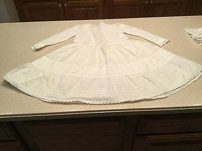 Vintage Child Childrens Christening Gown Dress White Long Sleeve