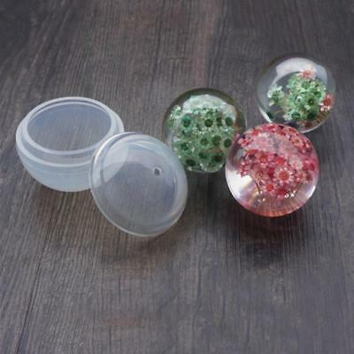 2pcs Silicon Resin Casting Ball Mold Jewelry Mould DIY Craft Making EB
