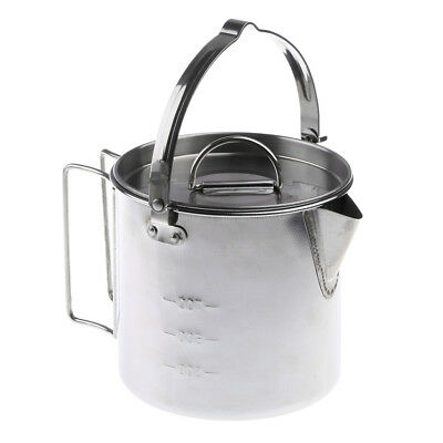 Stainless Steel Outdoor Cooking Camping Cookware Campfire Hanging Pan Pot