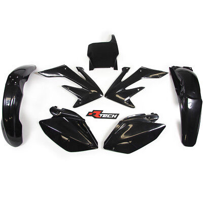 Racetech NEW Mx Honda CRF250R 2004 2005 Complete Black Motocross Plastics Kit