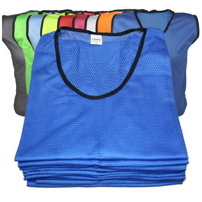 PACK OF 10 DIAMOND FOOTBALL BIBS - Small Boys, Junior, Youth and Adult Sizes
