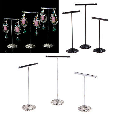 3 Pcs Alloy Earrings Display T-Shape Stand Showcase Jewelry Organizer Holder HOT