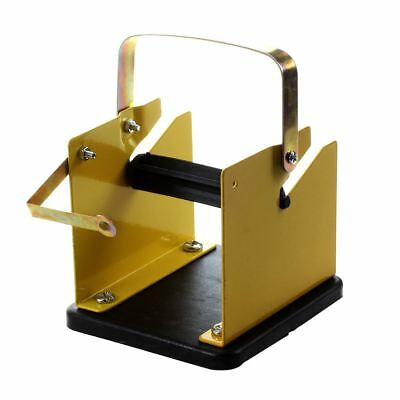 Yellow Black Metal Solder Wire Stand Holder Support R1D4