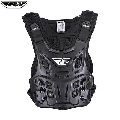 New Fly 'revel' Adult Body Armour Chest Protector Black Mx Motocross Roost Guard