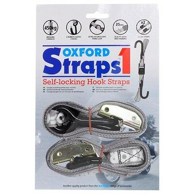 Oxford NEW Mx Motocross Dirt Bike Transport Silver Motorcycle Tie Down Straps